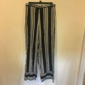 ASOS striped black and white pants